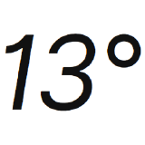 13degrees
